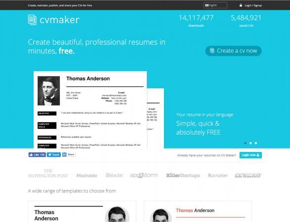 top resume maker software