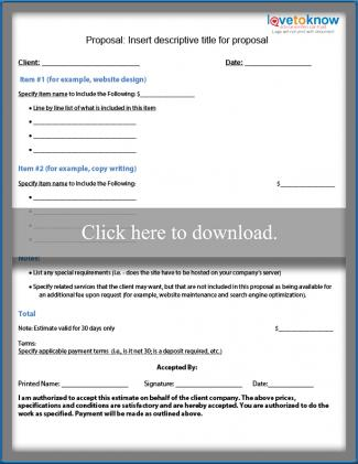 Free Business Proposal Samples LoveToKnow - business proposals samples