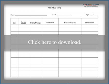 Mileage Log Templates - mileage log template