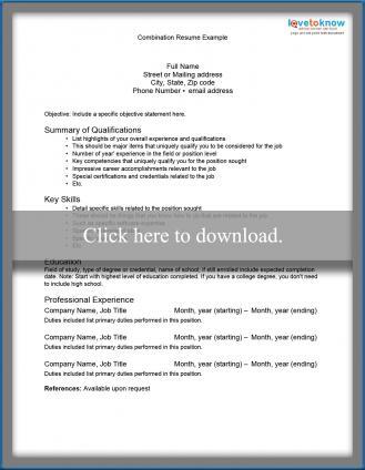 Samples of Resume Formats LoveToKnow