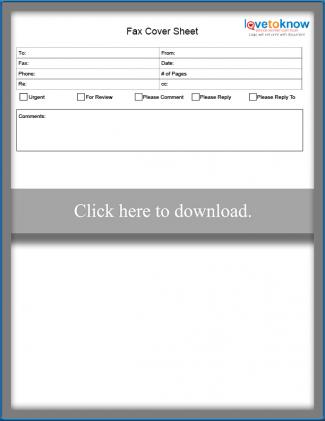 Printable Fax Cover Sheet Templates LoveToKnow