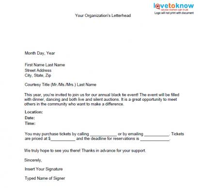 Letter Template For Charity Sponsorship – Sponsorship Email Template