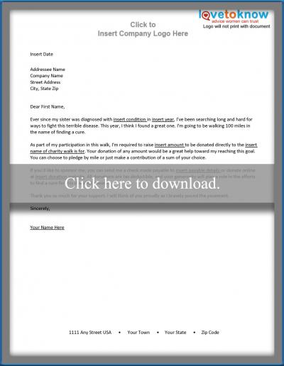 Free Sample Letters to Make Asking for Donations Easy - free sponsorship letter