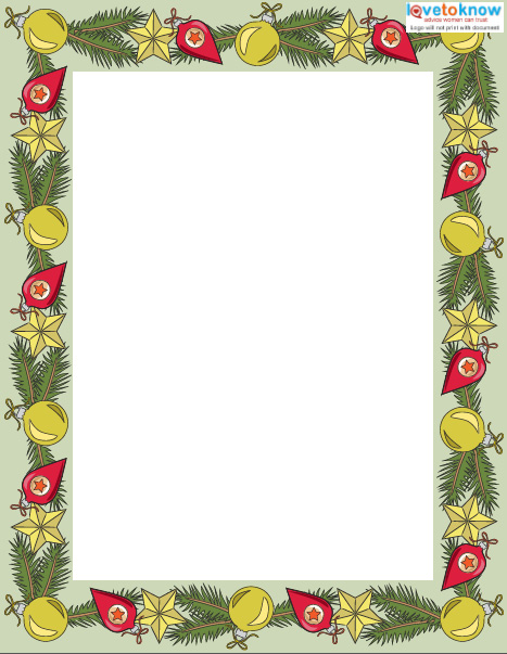 Printable Christmas Writing Paper - design paper for writing