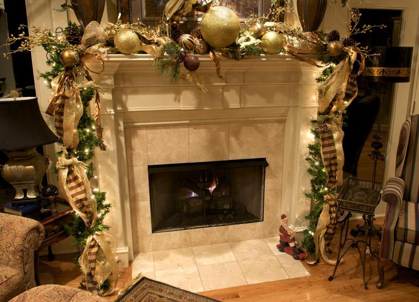 Mantel Christmas Decoration Ideas Gallery LoveToKnow - christmas mantel decor