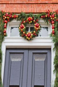 Garland Around Doorway. tips for how to hang garland ...