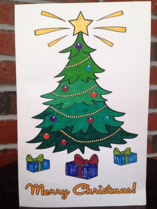 Printable Coloring Christmas Cards LoveToKnow