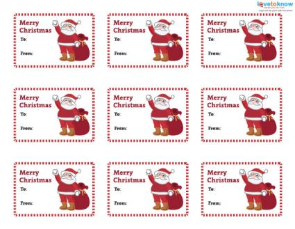 Printable Christmas Gift Tags LoveToKnow