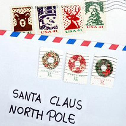 Santa Claus Mailing Address - Santa Envelopes
