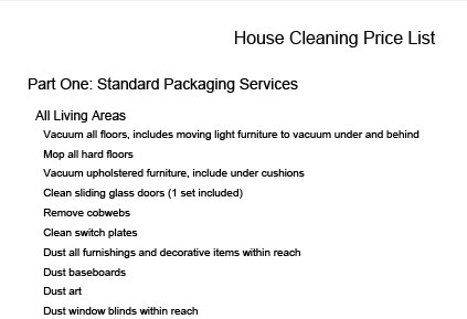 cleaning service contract samples