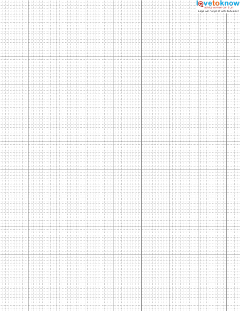 Finding and Using Free Cross Stitch Graph Paper - making graph paper in word