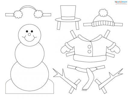 Free Snowman Craft Patterns - snowman template