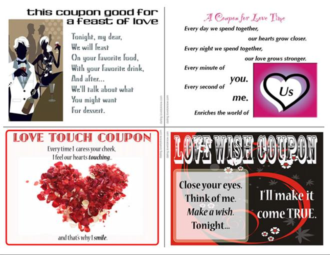 4 Free Love Coupons for Valentine\u0027s Day LoveToKnow