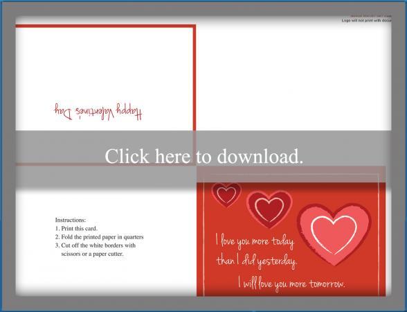 2 Free Printable Romantic Valentine Cards LoveToKnow