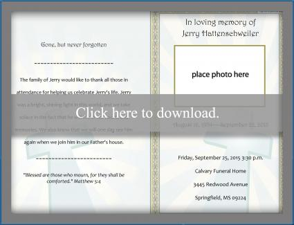 Free Funeral Program Templates LoveToKnow - free funeral programs downloads