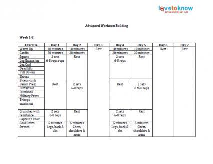 Gym Workout Plan - weekly workout plan