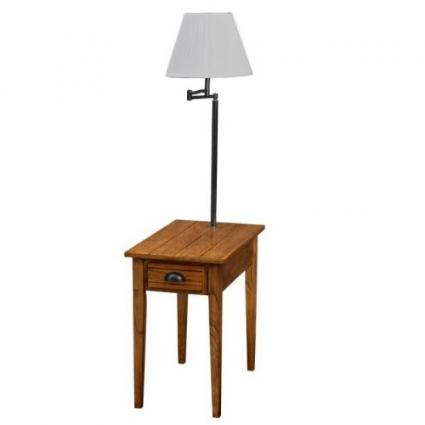 End Table With Built In Lamp Options