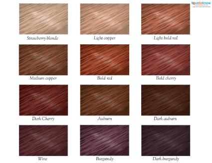 Red Hair Color Chart - hair color chart