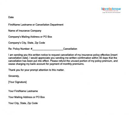 ... Letter To Cancel A Health Insurance Policy Of Dental Insurance Appeal