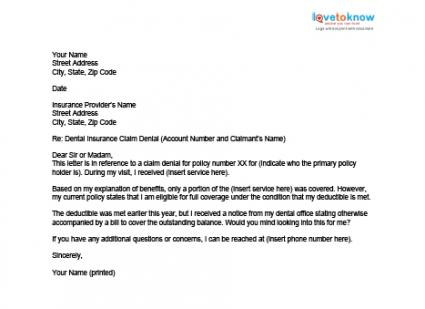 letter to insurance company to appeal a claim denial health insurance claim is denied what now