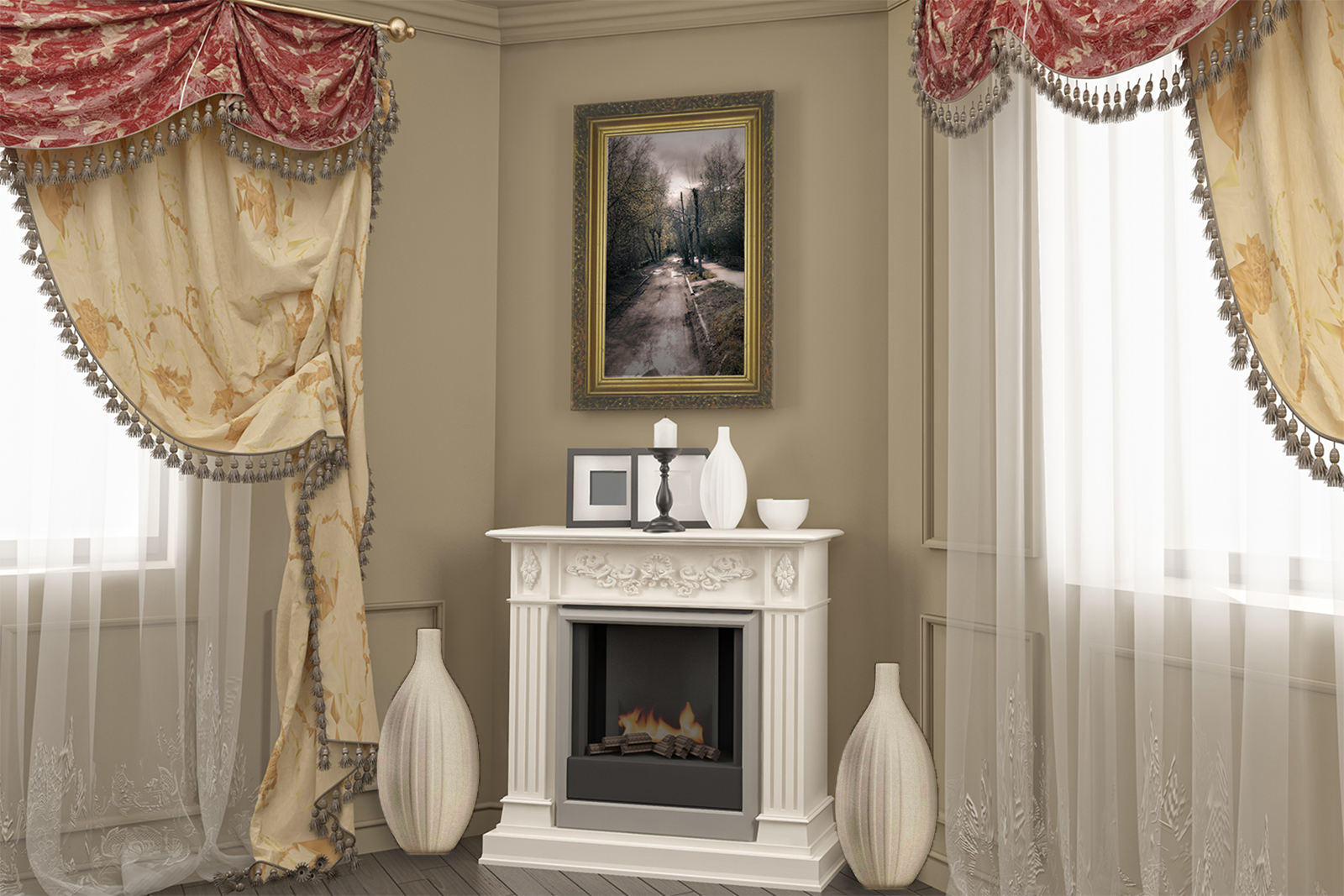 How To Decorate Fireplace How To Decorate A Corner Fireplace Lovetoknow