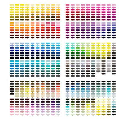 Paint Color Chart - sample cmyk color chart