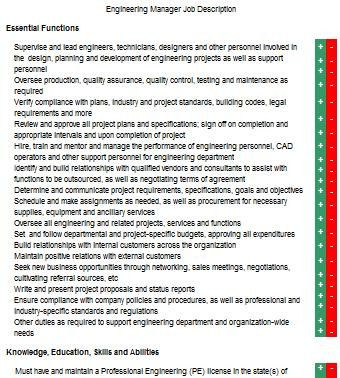 Engineering Manager Job Description LoveToKnow - engineer job description
