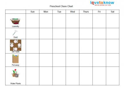 Free Printable Chore Lists for Kids LoveToKnow