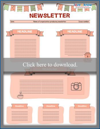 Free Editable Kids\u0027 Newsletter Templates LoveToKnow