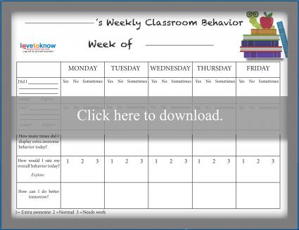 Free Behavior Charts LoveToKnow