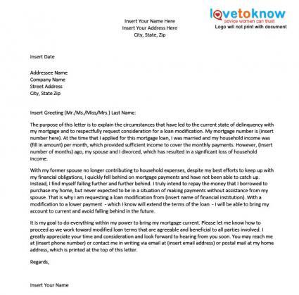 Mortgage Hardship Letter LoveToKnow