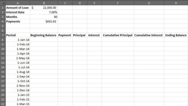 How to Create an Excel Amortization Table - amortization table in excel