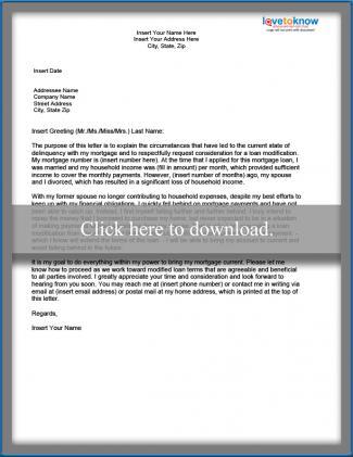 Sample Hardship Letter for a Loan Modification - hardship letter template