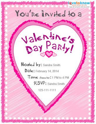 Valentine\u0027s Day Party Invitation Options LoveToKnow