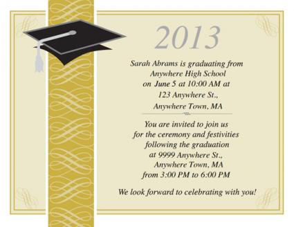 Free Printable Graduation Invitations - graduation party invitations