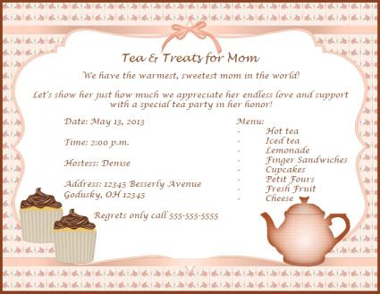 Invitations for Mother\u0027s Day - 's day party invitation