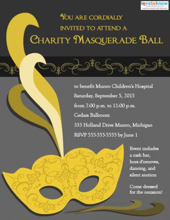Masquerade Ball Invitation Templates LoveToKnow - Corporate Party Invitation Template