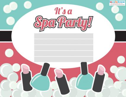 Spa Party Invitations LoveToKnow - spa invitation