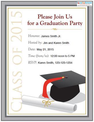 invitations graduation party - Akbagreenw - senior party invitations