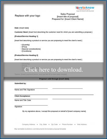 Sales Proposal Template LoveToKnow - sales proposal template
