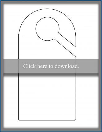 Printable Door Hanger Template LoveToKnow