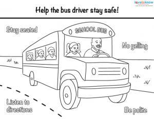 Bus Safety Worksheets - Sanfranciscolife