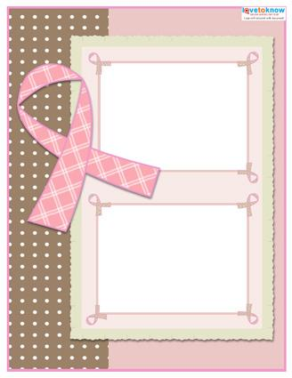 Breast Cancer Awareness Scrapbook Layouts LoveToKnow