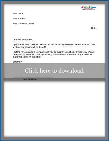 Sample Congratulations Letters for Retirement LoveToKnow