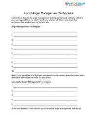 Free Anger Worksheets | LoveToKnow
