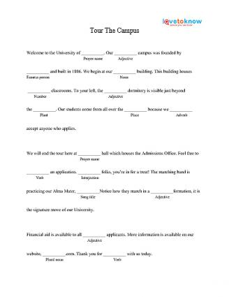 Printable Mad Libs for High School Students LoveToKnow