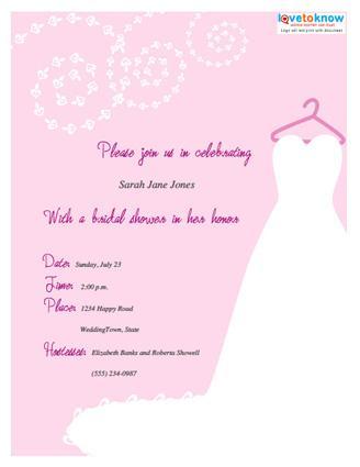 Wording for Bridal Shower Invitations - invitation template