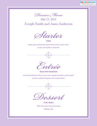 Banquet Menu Template Event Banquet Menu Template Banquet Menu