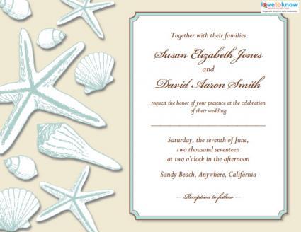 Beach Wedding Invitations LoveToKnow