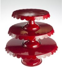 Red Cake Stand. 2-in-1 Decorative Cake and Cupcake Stand ...